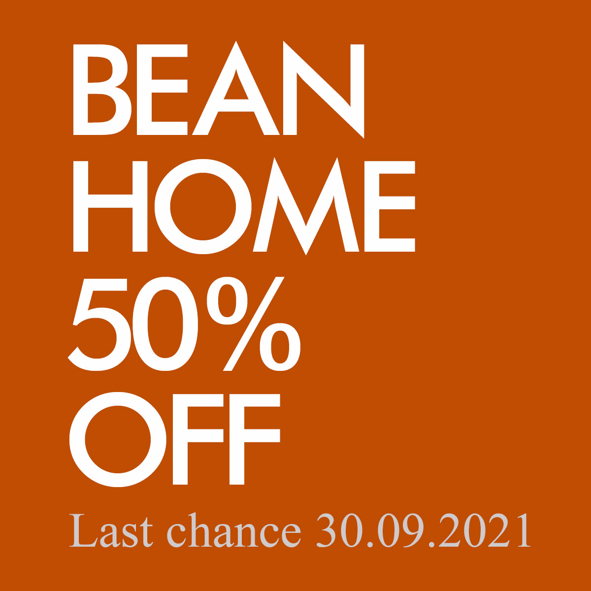 Beanhome 50% OFF